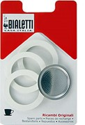 Bialetti 3 Seal/1 Filter Pack Moka Express 1 cup