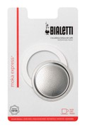 Bialetti 1 Seal/1 Filter Pack Moka Express 2 cup