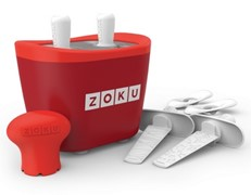 Zoku Duo Quick Pop Popsicle Maker Red