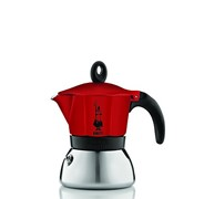 Bialetti Moka Induction 3 Cup Red