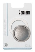 Bialetti 1 Seal/1 Filter Pack S/Steel Models 2 cup