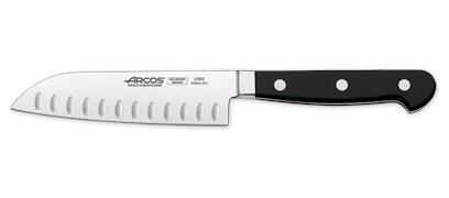 Arcos Clasica Santoku Knife Granton Edge Forged 140mm