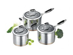 Scanpan Coppernox 3pce Saucepan Set