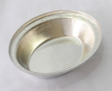 Tin Plate Oval Pie Tin 130x105x29mm