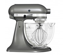 Kitchenaid Mixer Glass Bowl Medallion Silver