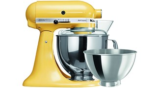 Kitchenaid Ksm160 Majestic Yellow Mixer with 4.8 and 2.8l Bowl