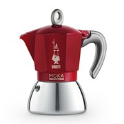 Moka Induction Bi-Layer 6 Cup Red