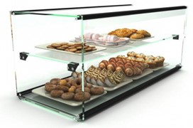 Ambient Glass Display 2 Tier 550 X 390 X 375 (Ep10d)