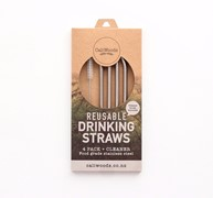 Stainless Steel Bent Straw Pkt 4 & 1 Cleaner