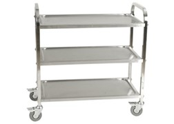 Trolley With S/s Shelves 95 X 55 X 94cm