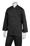 Marbella Women's  Executive Chef Coat Black Size Medium