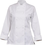 Marbella Womens White Executive Chef Coat Large