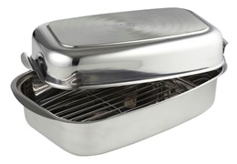 Argon Double Roaster with Rack Stainless Base 36x24.5x8cm