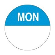"Day Dot Label ""monday"" (box 1000)"