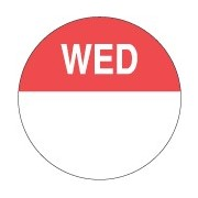 "Day Dot Label ""Wednesday"" (box 1000)"