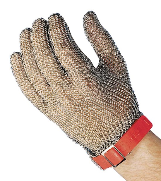 Chain Mail Glove Small Green TFE