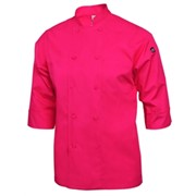 3/4 Sleeve Lightweight Chef Coat Berry X Small