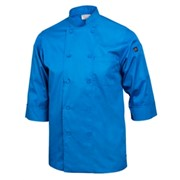 3/4 Sleeve Lightweight Chef Coat Blue Small
