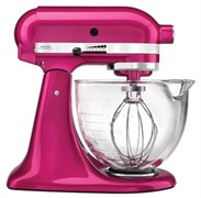 Kitchenaid Mixer Glass Bowl Raspberry Ice