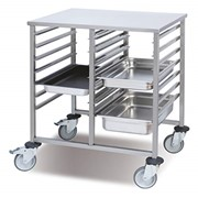 Pujadas Gastronorm Trolley Double 810 x 635 x 900