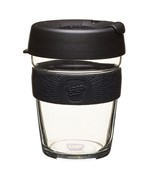 Keep Cup Glass 12oz/340ml Black/Origin