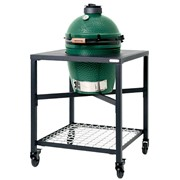 Big Green Egg Large Bundle with Frame,s/S Grid,conveggtor,ash Tool,cover